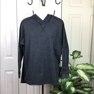 THE NORTH FACE BLACK GRAY HOODED LONG SLEEVE TOP